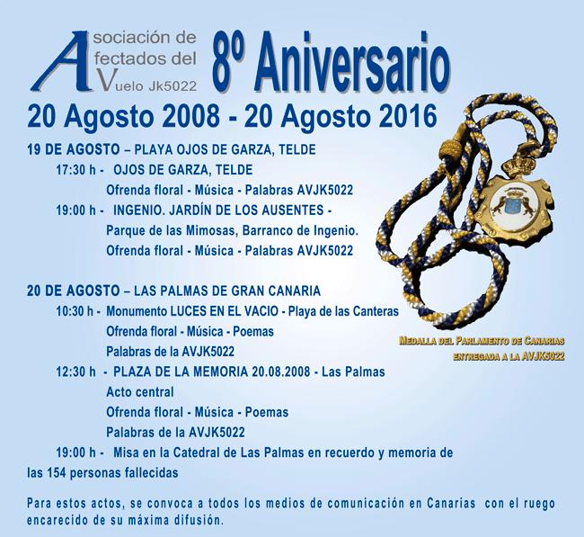 8 aniversario JK5022 Canarias